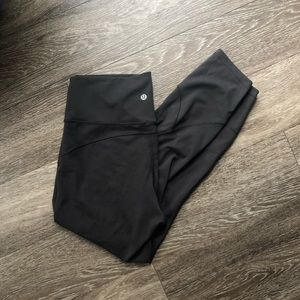 "Lululemon 28"" Black Nulux Tights/ Leggings ♠️"
